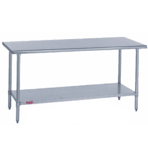 """Work Table, 85"""" - 96"""", Stainless Steel Top"""
